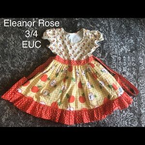 Eleanor Rose Apple Dress size 3/4